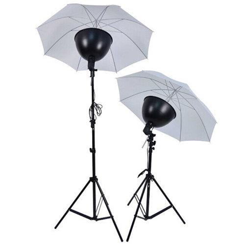 Lampe studio alu avec parapluie