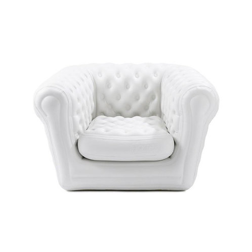Fauteuil Chesterfield 1 place gonflable blanc