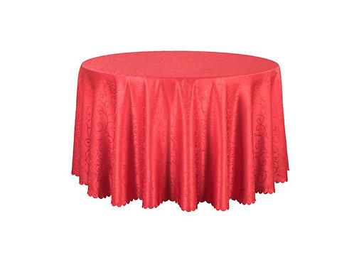 Nappe ronde damassée rouge 280cm