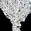 Thumbnail: Petit arbre blanc 75 cm