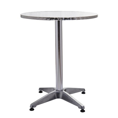 Table ronde aluminium 60x72cm