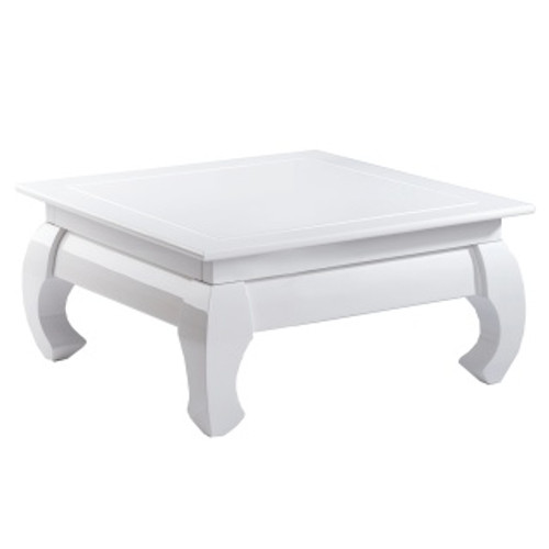 table basse opium blanche 80cm x 80cm