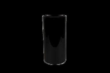 Vase cylindrique Noir H30 D15 cm