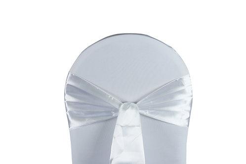 Nœud de chaise satin blanc 20x260cm