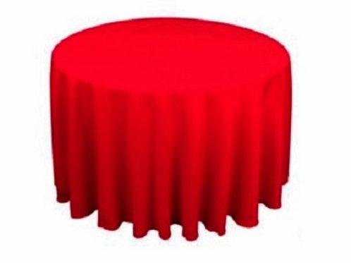 Nappe ronde rouge 280cm