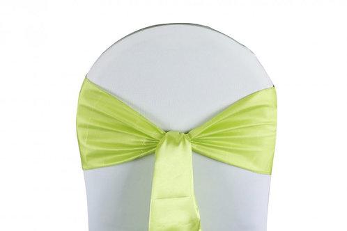 Nœud de chaise satin vert anis 20x260cm