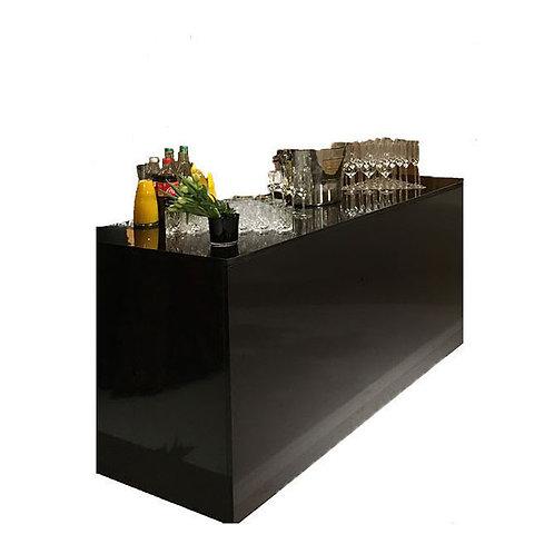 Module de bar laqué noir brillant