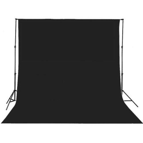 Kit Système de fond + tissu de fond 3 x 3 m Noir