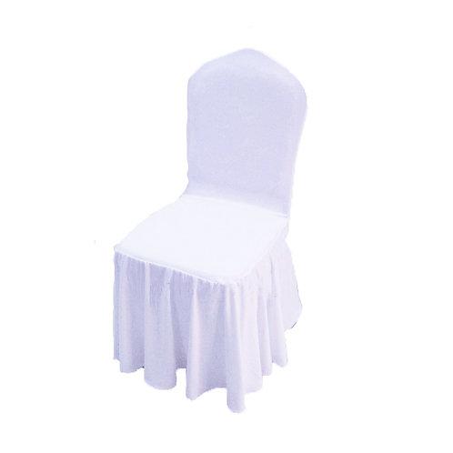 Housse de chaise évasé blanche
