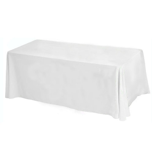 Nappe rectangulaire blanche 110x140cm