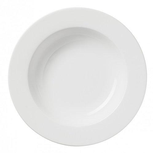 Assiette ronde creuse blanche 26 cm