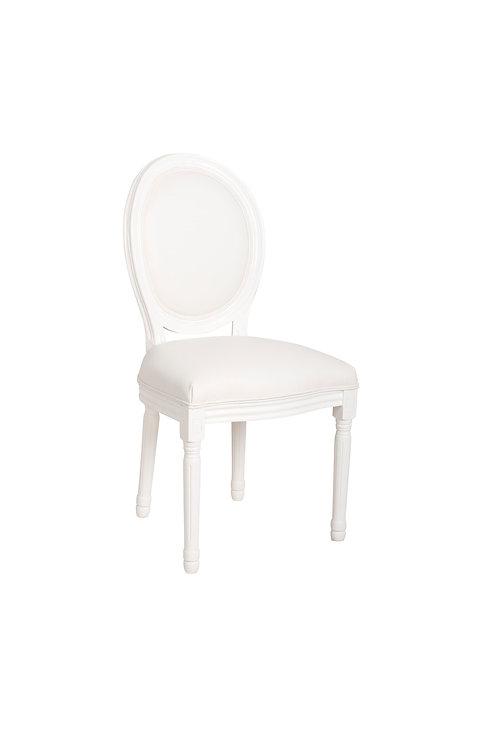 Chaise médaillon blanche
