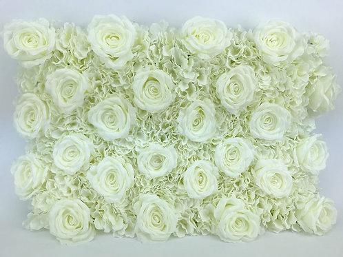 Mur florale avec roses