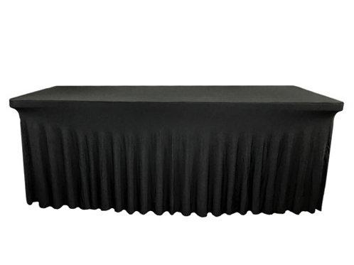 Nappe rectangulaire noire 183cm