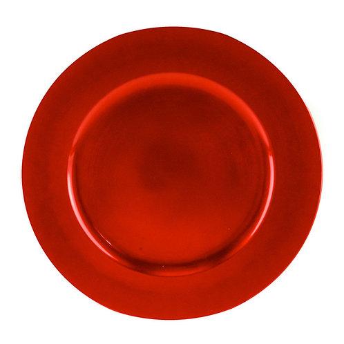 Assiette de présentation rouge 33cm