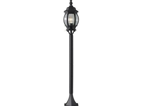 Luminaire 1 ampoule noir H 1.1  avec base mobile noir