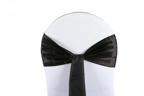 Nœud de chaise satin noir 20x260cm