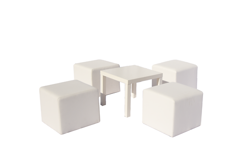 Coin lounge 4 personnes white