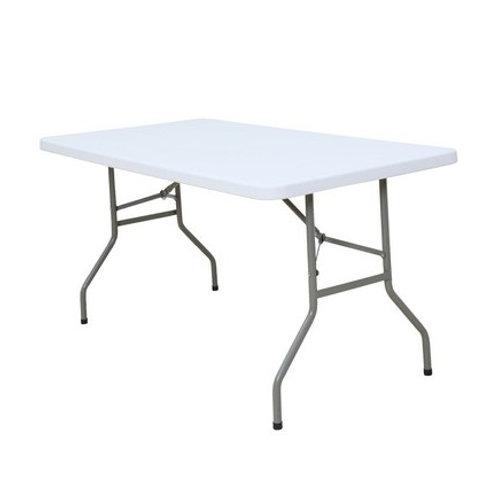 Table rectangulaire pliable blanche longueur 200 cm