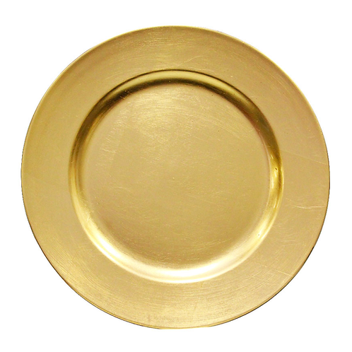 Assiette de présentation doré 33cm