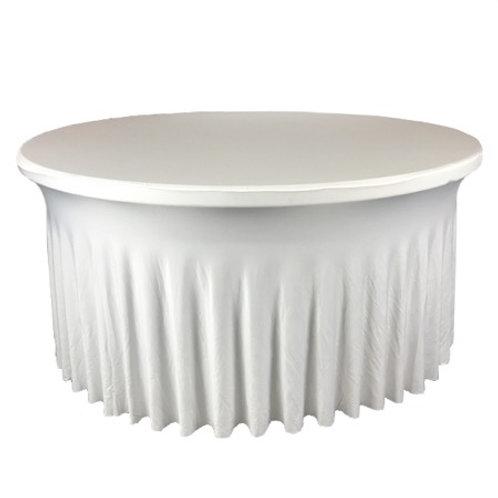 Nappe ronde blanche150-160cm