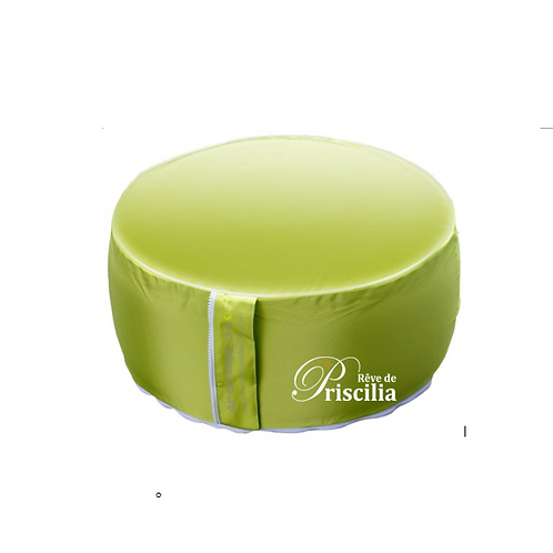 Pouf rond gonflable vert
