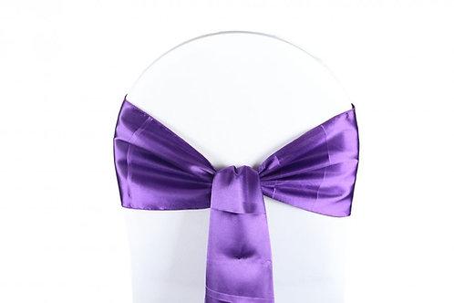 Nœud de chaise satin violet 20x260cm