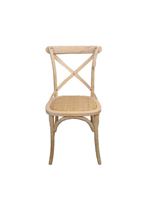 Chaise en bois dos croisé nature