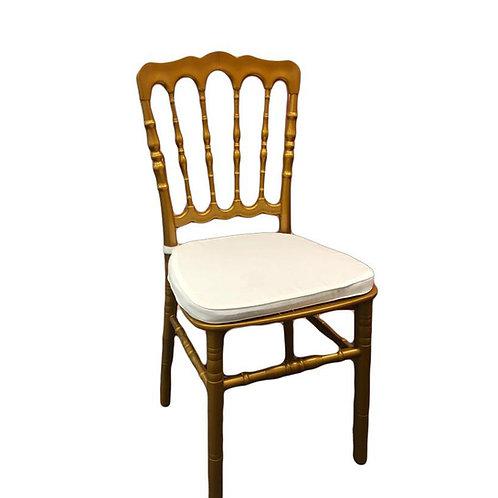 Chaise Napoléon dorée