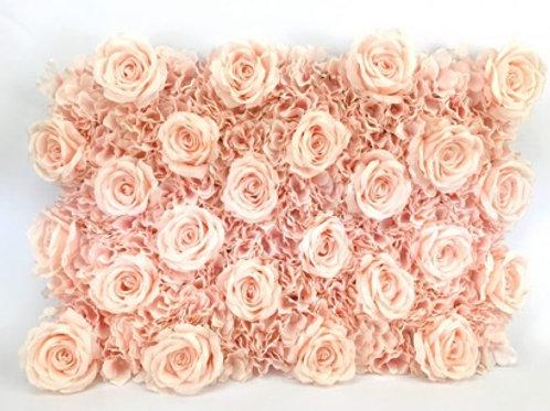 Mur florale rose nude 40x60 cm
