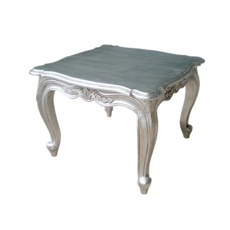 Table Basse Baroque Argentée
