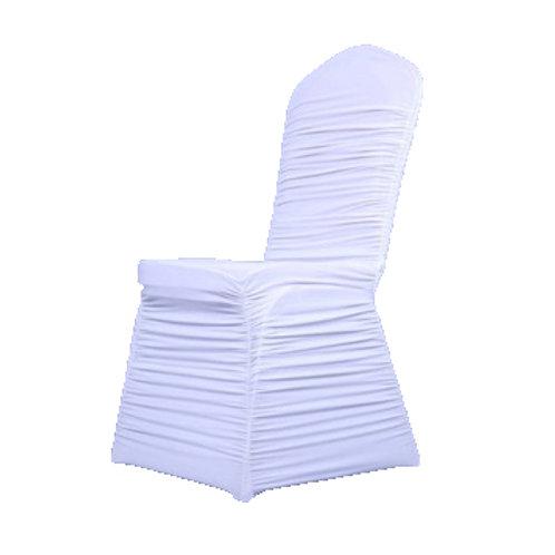 Housse de chaise vague blanche