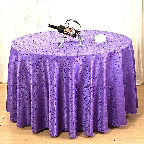 Nappe ronde damassée violette 280cm