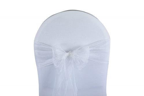 Nœud de chaise organza blanc 20x260cm