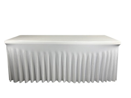 Nappe rectangulaire blanche183cm