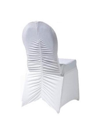 Housse de chaise design blanche