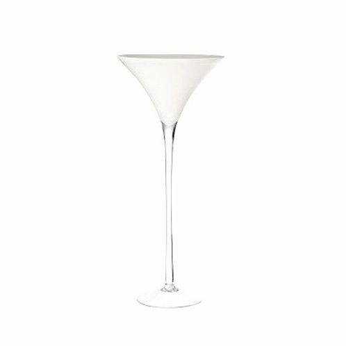 Vase martini blanc
