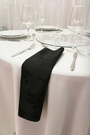 Serviette damassée noire
