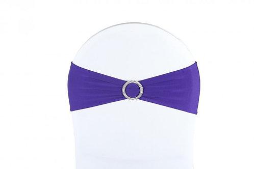 Nœud de chaise lycra violet