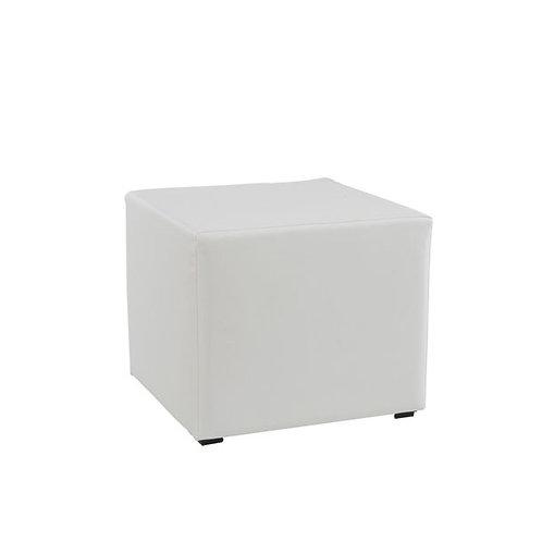 Pouf carré blanc