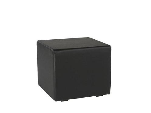 Pouf carré noir