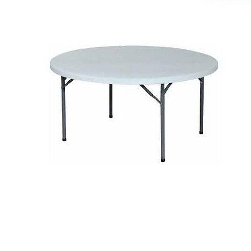 Table ronde blanche pour 10 personnes