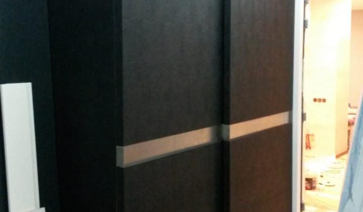 Встроенные шкафы Кожаные фасады
