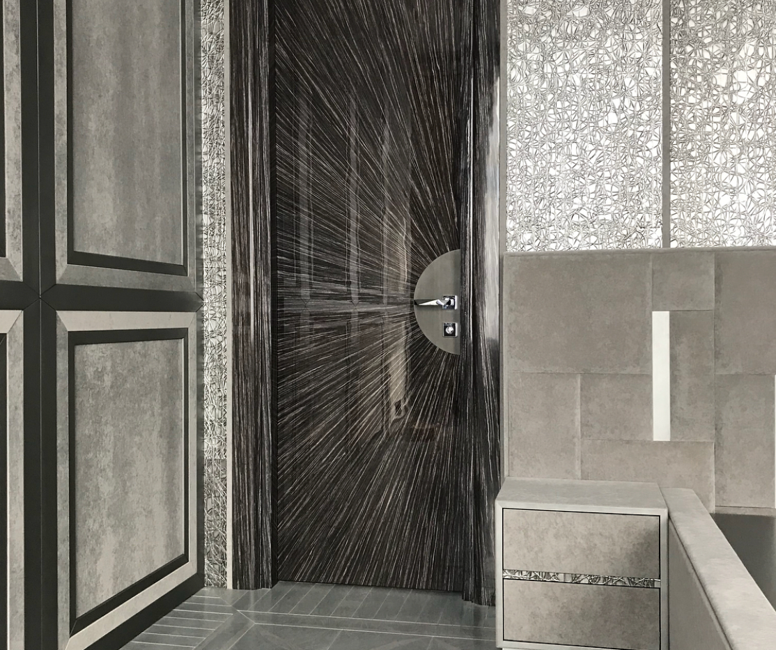 Дверь и фасады наборный шпон