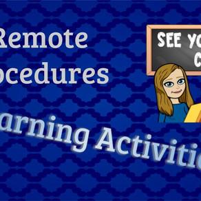 Adjusting Procedures for Remote Learning