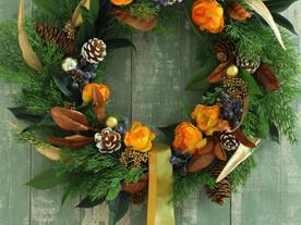11月7日クリスマスリースレッスン 南大高中日文化センター