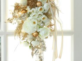 11月19日開催 花育 幸せを願うXmasスワッグレッスン 栄中日文化センター