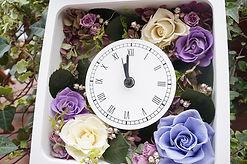 パープルのプリザーブドフラワー花時計