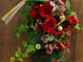 12月1日開催 花育Xmasスワッグレッスン 一宮中日文化センター