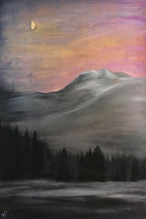 """Mount Revelstoke"" ~ 40""x 60"" Oil Painting on Wooden Canvas (Original)"